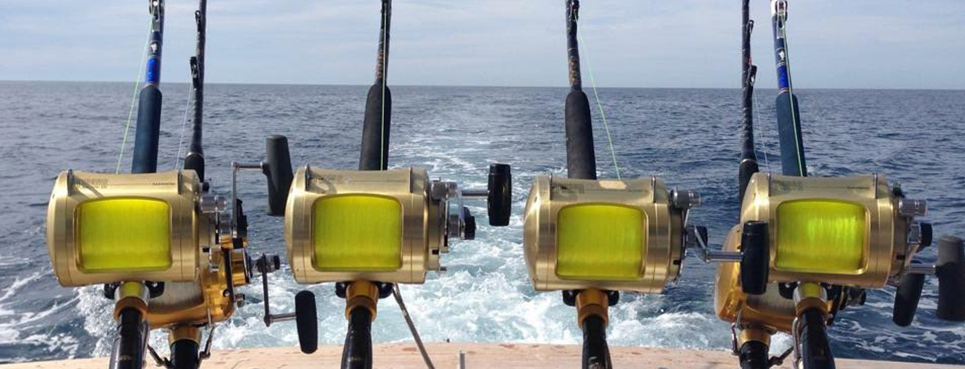 Fishing Poles on Back of Boat